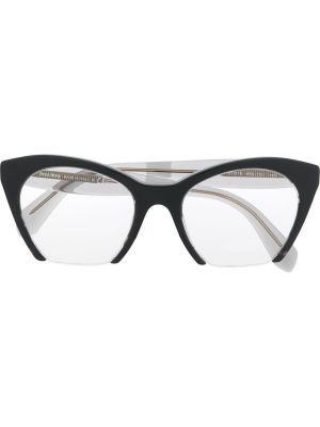 Очки кошачий глаз хаки Miu Miu Eyewear