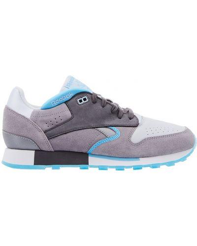 Кожаные кроссовки на платформе замшевые Reebok