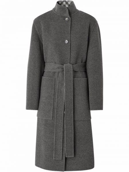 Шерстяное пальто - серое Burberry