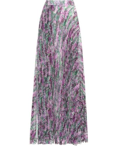 Плиссированная юбка макси с цветочным принтом Max Mara