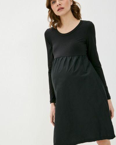 Черное платье а-силуэта Mama.licious