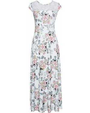 Платье макси с цветочным принтом Bonprix