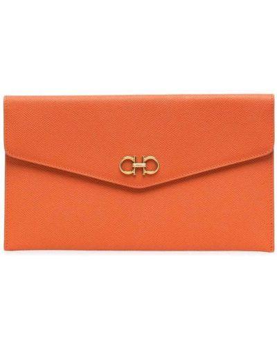 Złota kopertówka - pomarańczowa Salvatore Ferragamo
