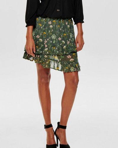 Юбка зеленый широкая Jacqueline De Yong