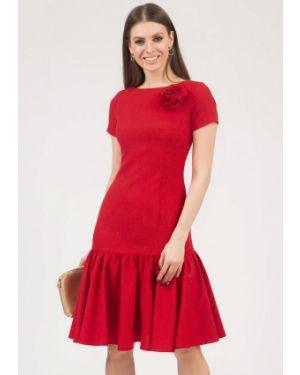 Платье миди красный оливковый Olivegrey