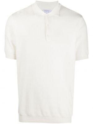 Белая прямая рубашка с короткими рукавами с воротником на пуговицах Sunspel