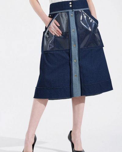 Джинсовая юбка синяя W8less