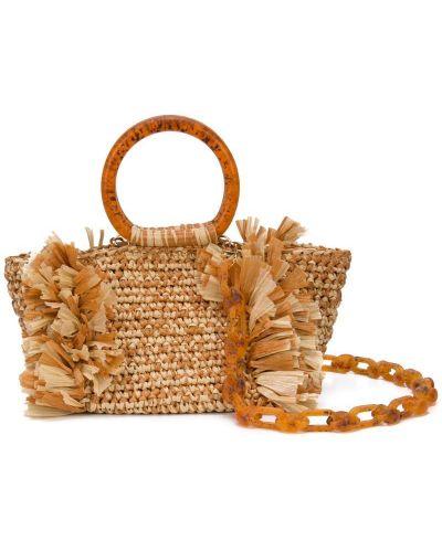 Коралловая сумка с ручками круглая Carolina Santo Domingo