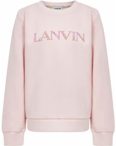 Różowy prążkowany top bawełniany Lanvin