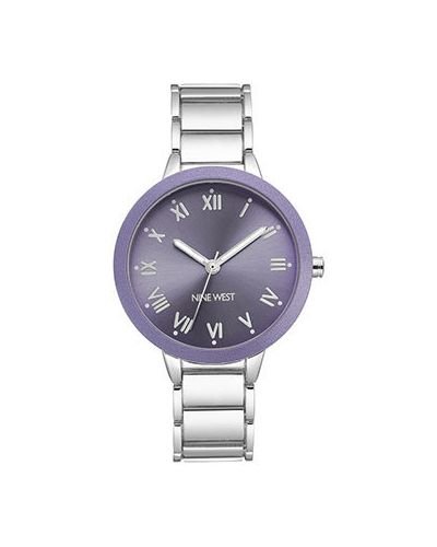 Кварцевые часы с круглым циферблатом на металлическом браслете Nine West