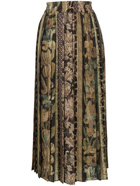 Коричневая юбка из полиэстера Pierre-louis Mascia