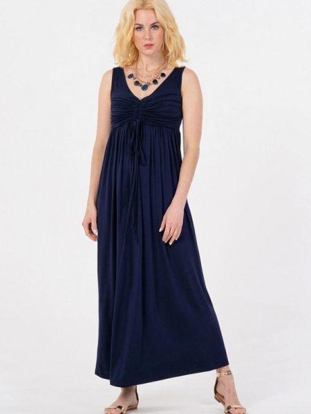 Синее прямое платье Petit Pas