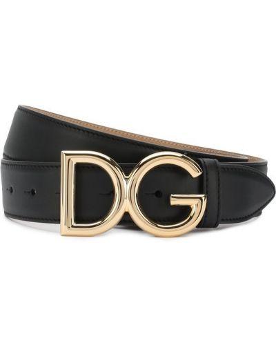 Черный ремень кожаный Dolce & Gabbana