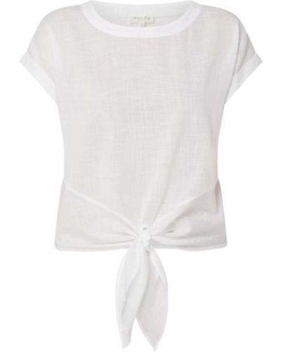 Biała bluzka krótki rękaw bawełniana Christian Berg Women