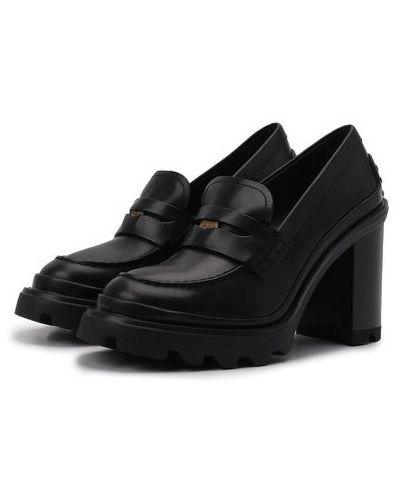 Черные зимние туфли Tods