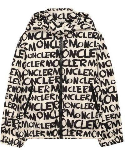 Ветровка с подкладкой белый Moncler Enfant