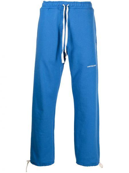 Joggery z haftem - niebieskie Saintwoods