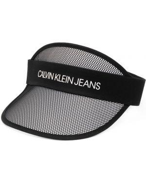 Daszek czarny z logo Calvin Klein Kids