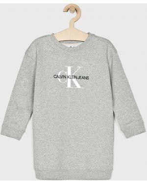 Прямое джинсовое платье с декольте Calvin Klein Jeans