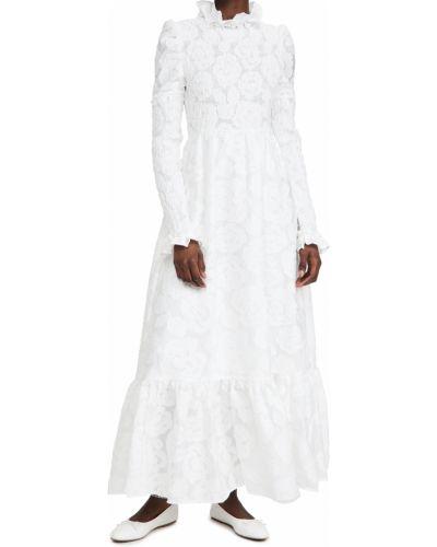 Хлопковое бежевое платье макси с воротником Sister Jane