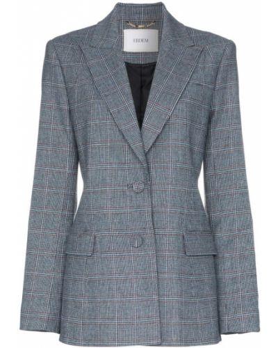 Синий удлиненный пиджак Erdem
