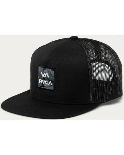 Czarna czapka z daszkiem bawełniana Rvca