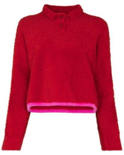 T-shirt w paski - czerwona Jacquemus