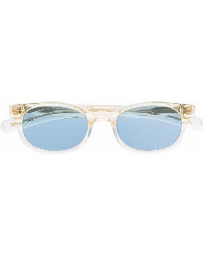 Złote niebieskie okulary Flatlist