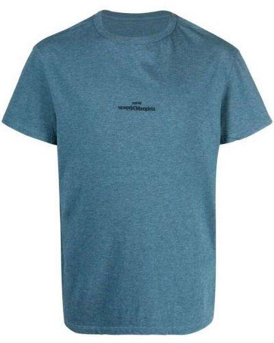 Niebieska t-shirt Maison Margiela