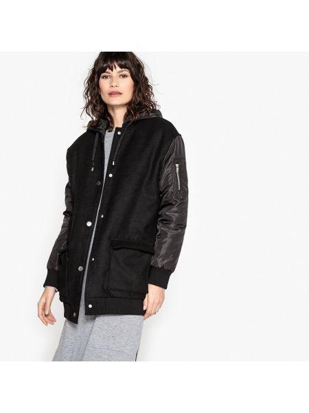 Пальто с капюшоном на кнопках пальто-бомбер La Redoute Collections