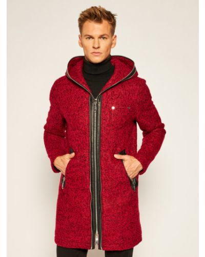 Czerwony płaszcz wełniany Rage Age