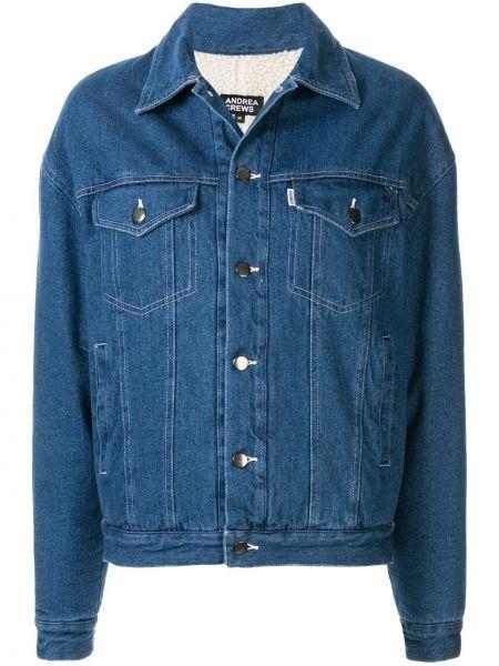 Джинсовая куртка на пуговицах Andrea Crews