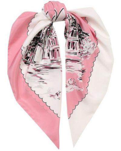 Платок из шелка розовый Burberry