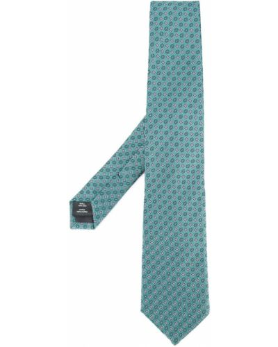 Zielony jedwab gumka do włosów z haftem Gieves & Hawkes