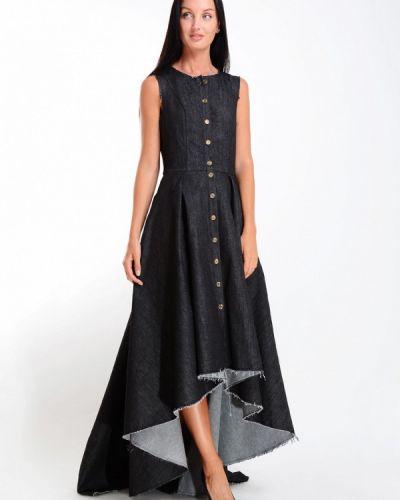 Джинсовое платье - черное Kriza