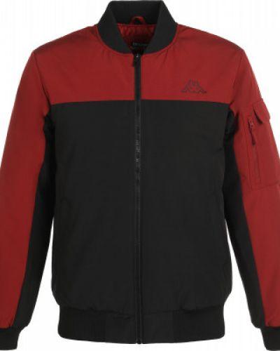 Теплая красная короткая куртка на молнии Kappa