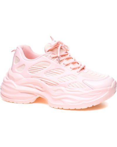 Текстильные кроссовки - розовые Crosby