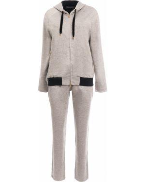Шелковый костюм - бежевый Capobianco