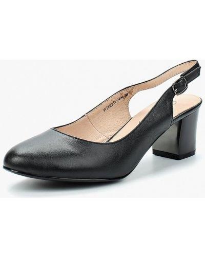 Черные туфли с открытой пяткой Berkonty