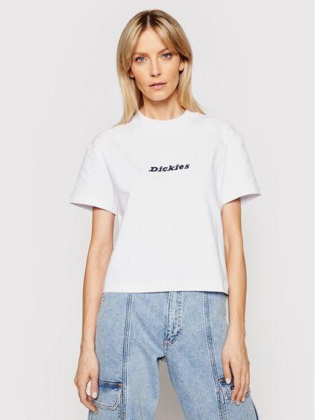 T-shirt - biała Dickies