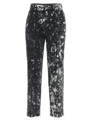 Ватные хлопковые черные укороченные джинсы Stella Mccartney
