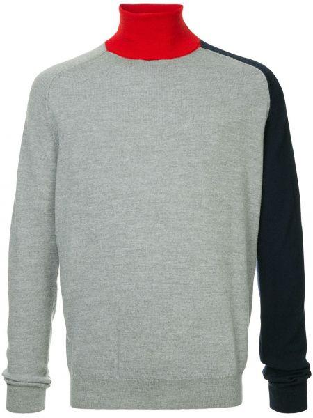 Серый шерстяной свитер свободного кроя в рубчик Band Of Outsiders