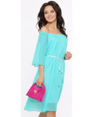 Летнее платье с поясом шифоновое Dstrend
