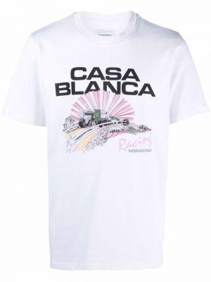 Лонгслив с принтом - белая Casablanca