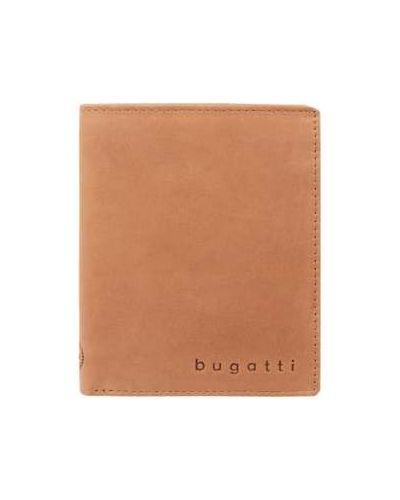 Portfel skórzany - brązowy Bugatti
