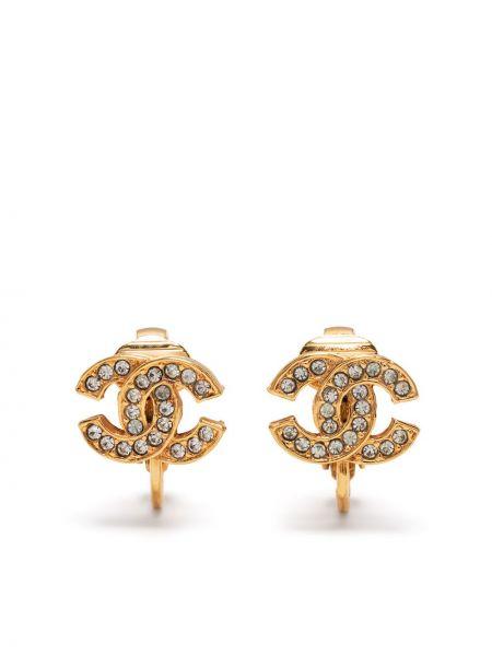 Złote kolczyki sztyfty Chanel Pre-owned