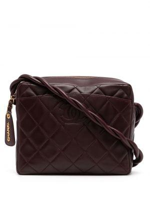 Кожаная красная сумка на плечо на молнии Chanel Pre-owned