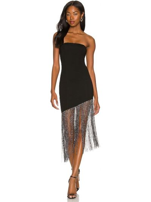 Sukienka asymetryczna - czarna Superdown