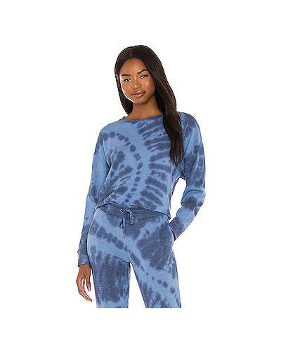 Шелковый синий свитер Splendid