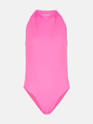 Розовый купальник Balenciaga